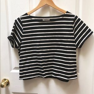 Madewell Striped Crop Top